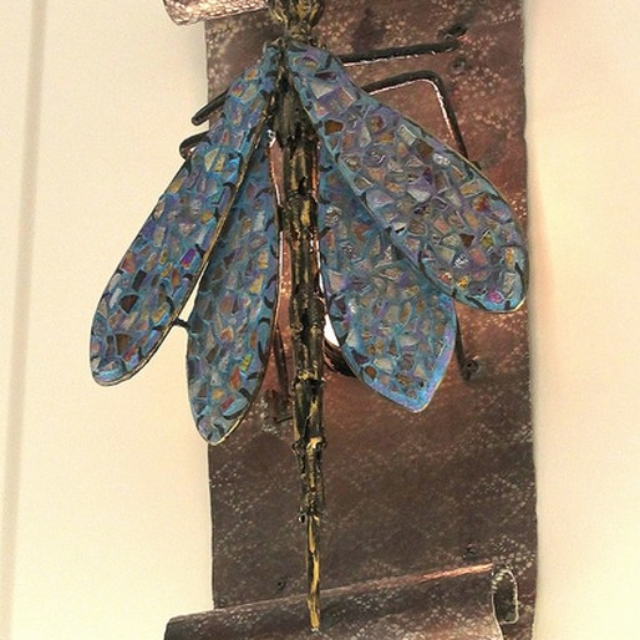 Dragonfly Wall Sconce at the Public Library in Topanga, CA by Pavlovs Dream