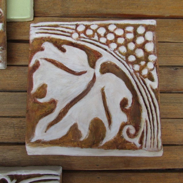 Grape Leaf Cement Tile by Pavlovs Dream