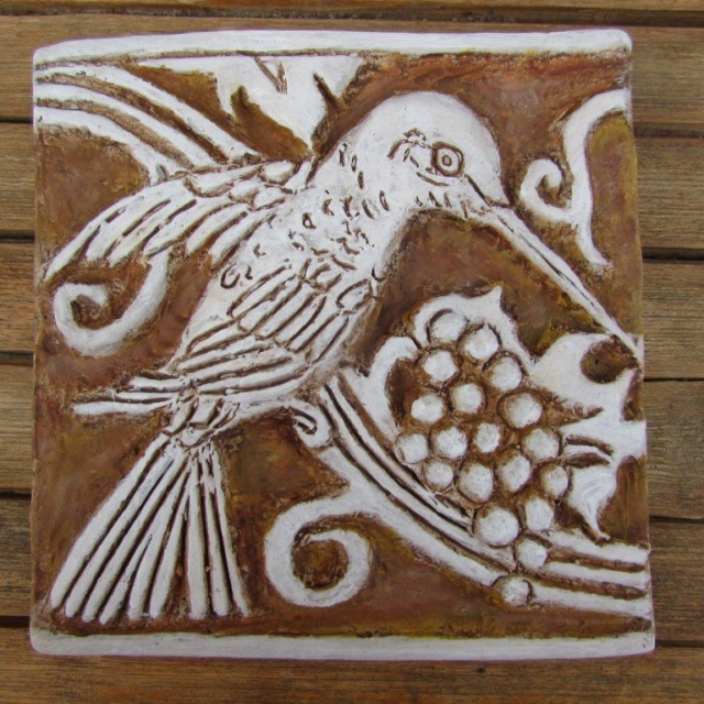 Hummingbird Cement Tile by Pavlovs Dream