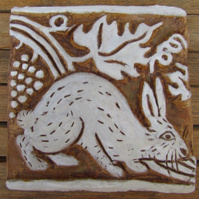 Rabbit Cement Tile by Pavlovs Dream