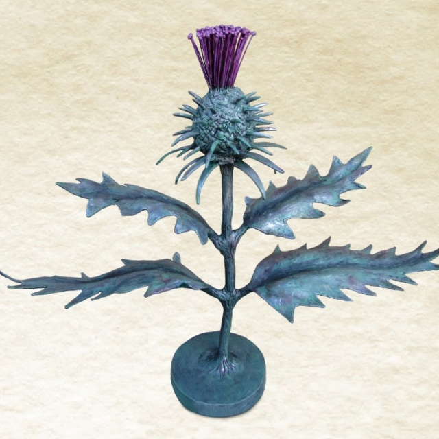 Metal Scottish Thistle Sculpture by Pavlovs Dream