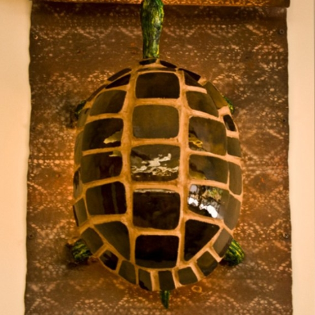 Turtle Wall Sconce at the Public Library in Topanga, CA by Pavlovs Dream